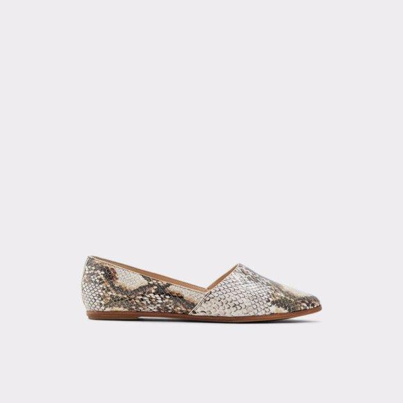 Blanchette Snakeskin Faux-Leather Flats Size 8.5